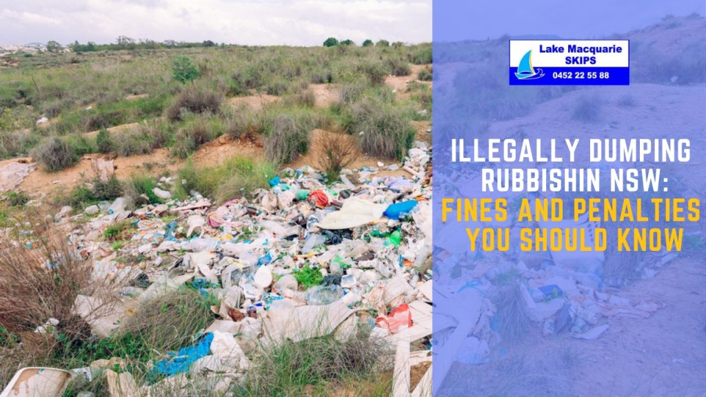 Fines for Illegal Dumping of Wastes NSW - Lake Macquarie Skips